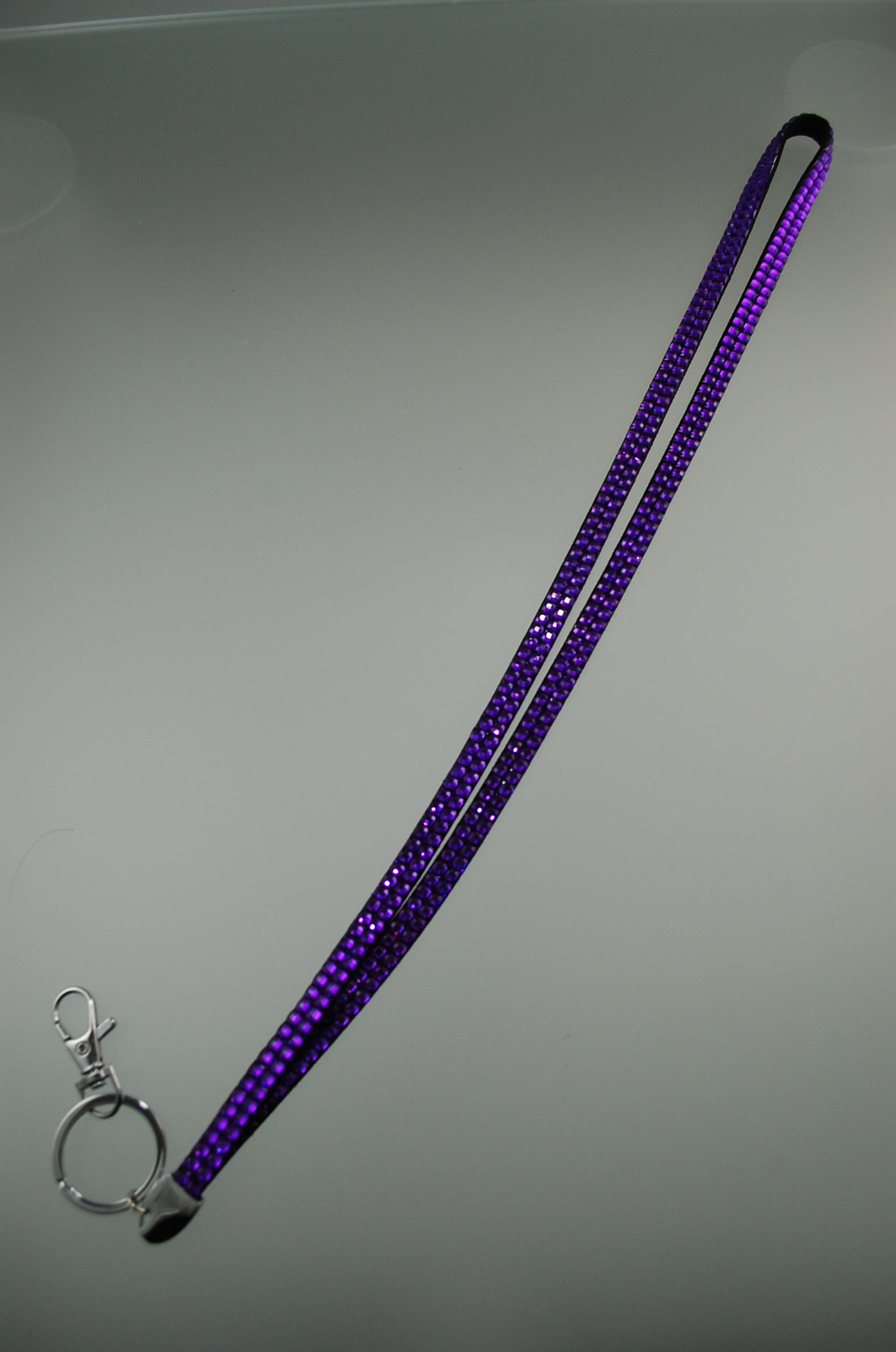 Cliphanger Lanyard Bling Purple